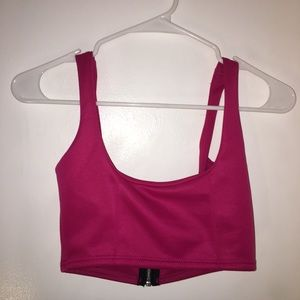 Pretty Little Thing Pink Crop , size 2